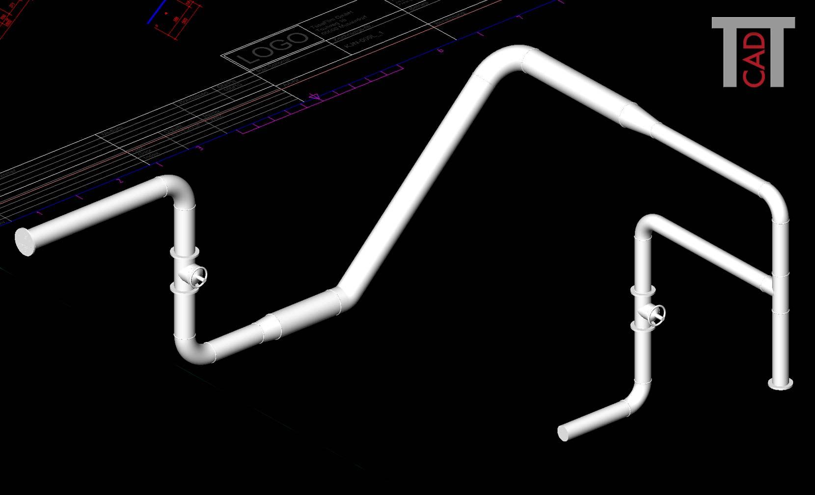PiCAD goes 3D! Auf Knopfdruck 3D-Rohrleitung erzeugen (Kollisionsprüfung)